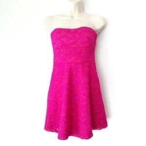 ASOS - petite lace strapless dress